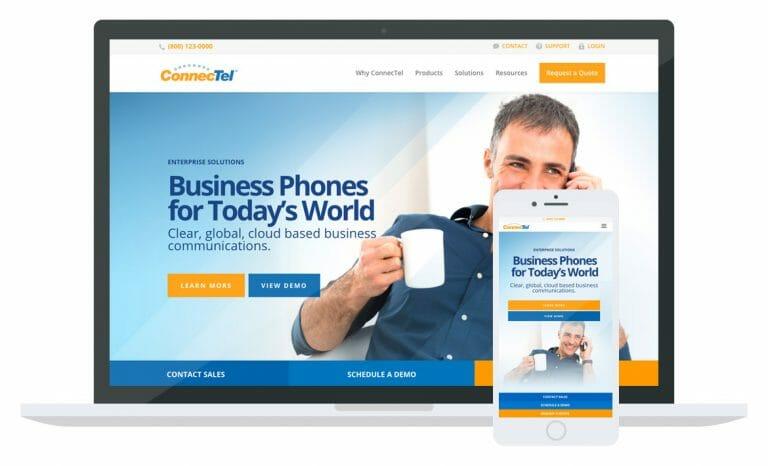 ConnecTel website mockup