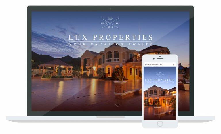 Lux Properties website mockup