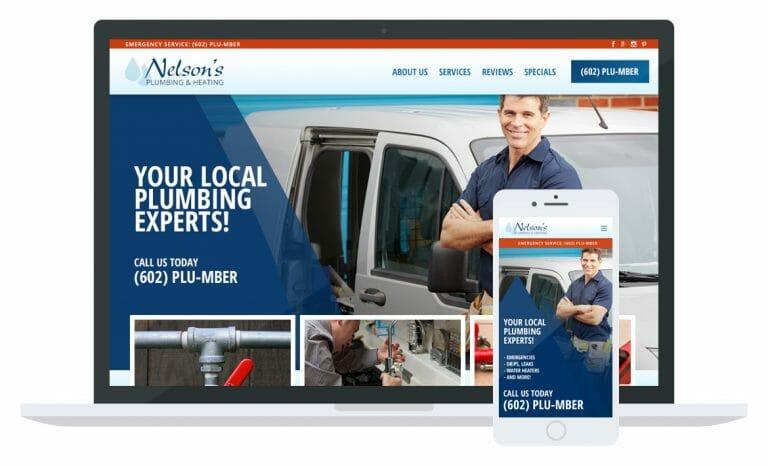 Nelson's Plumbing website Mockup