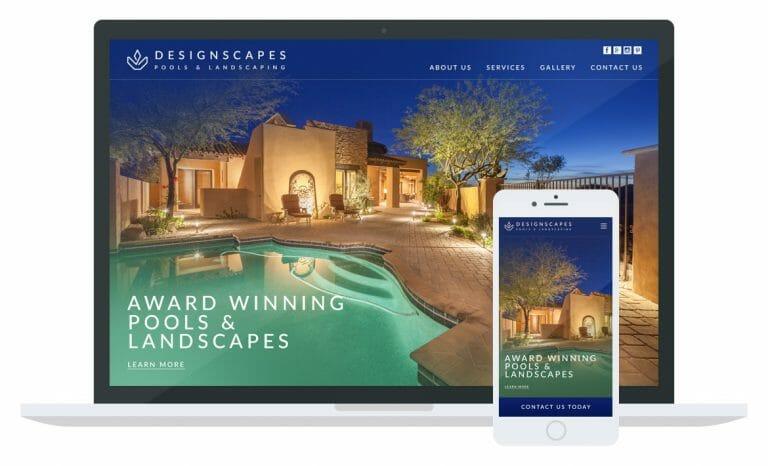 Dreamscapes landscaping website Mockup
