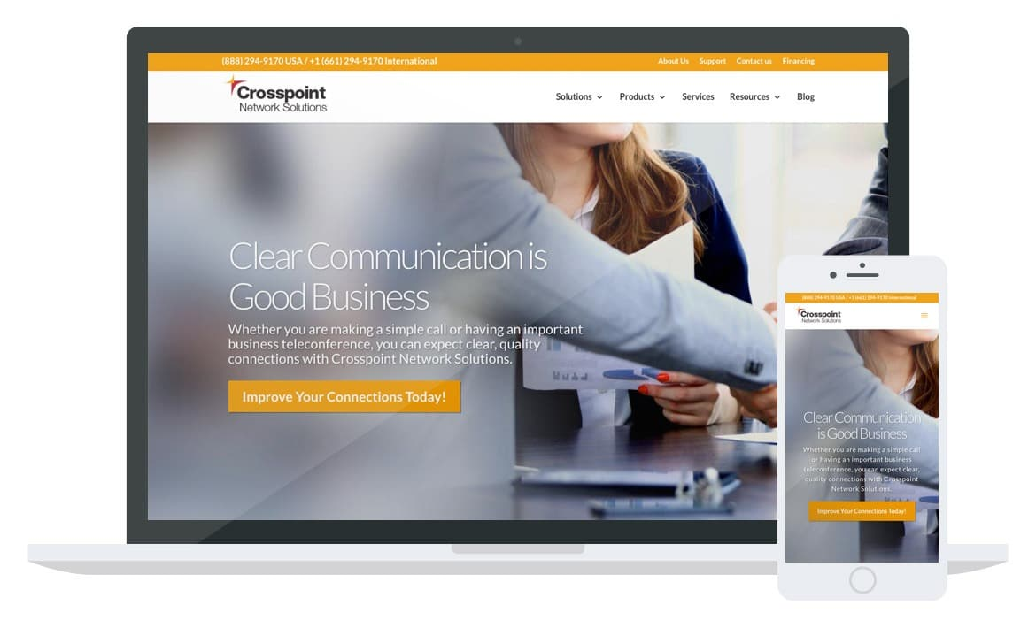 Crosspoint Network Solutions website