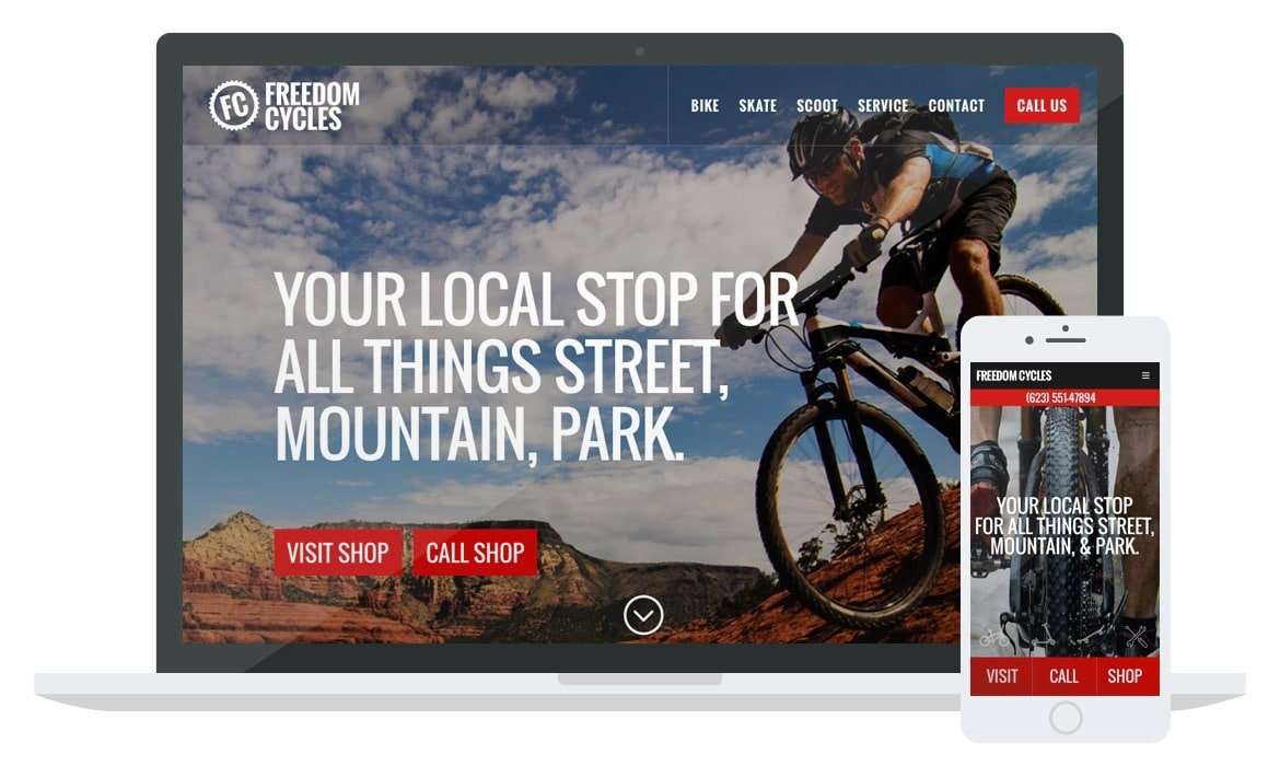 Freedom Cycles website