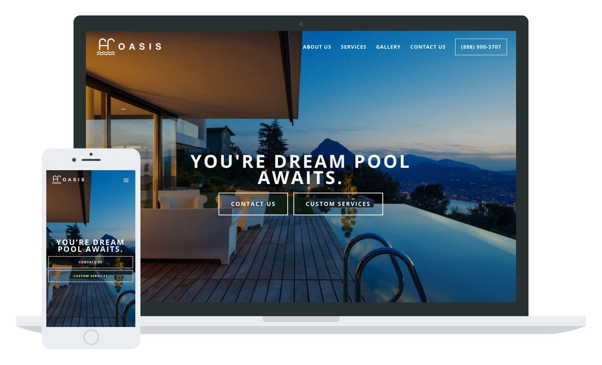 Oasis Pools website