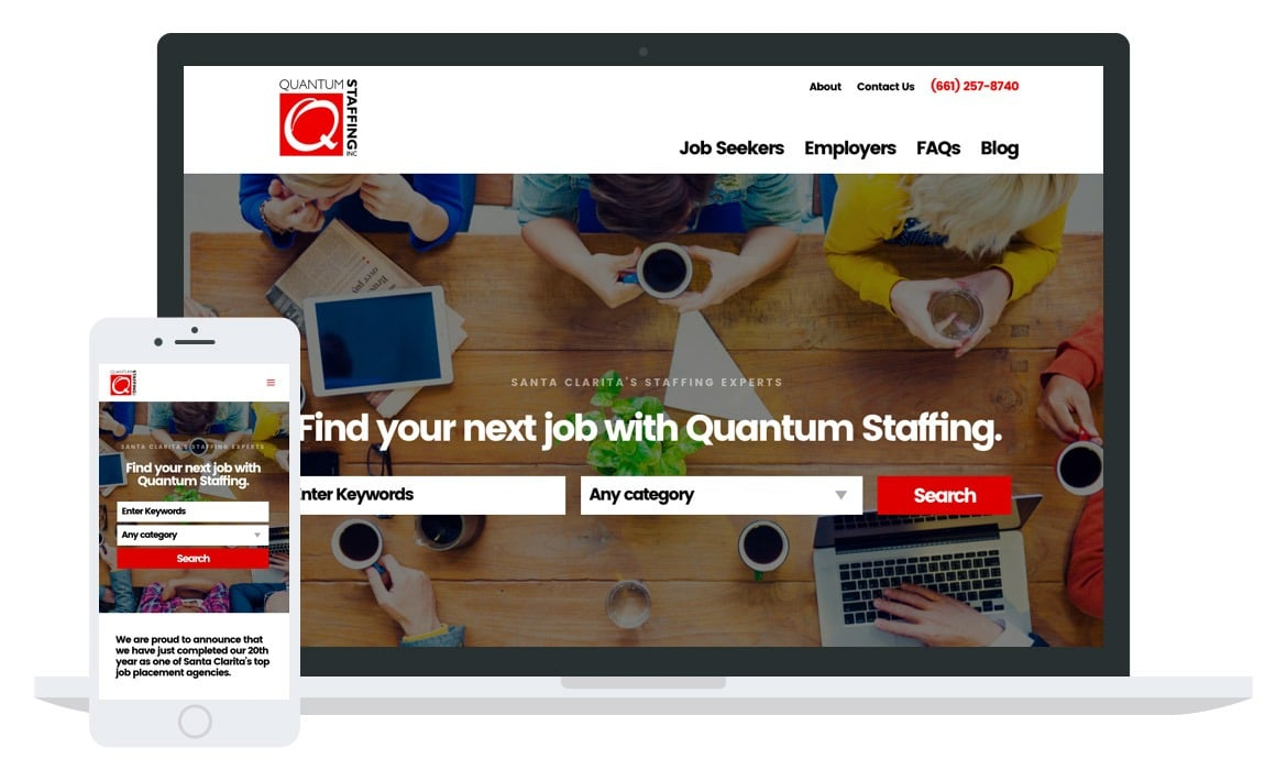 Quantum Staffing website